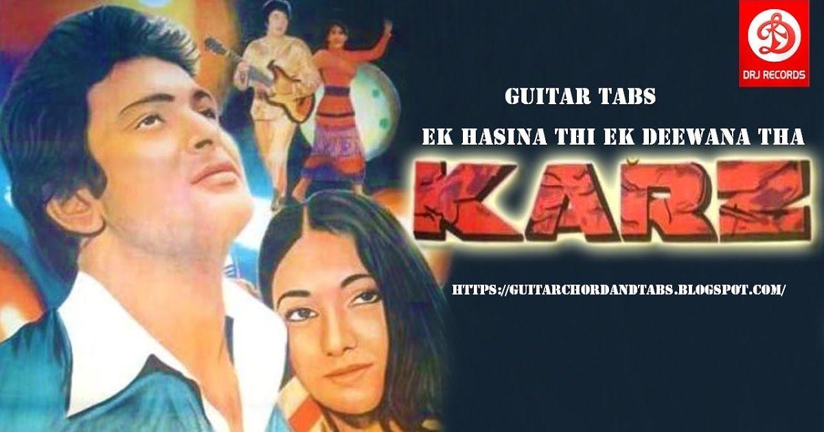 Ek Hasina Thi With Images Guitar Tabs Ek Hasina Thi Guitar