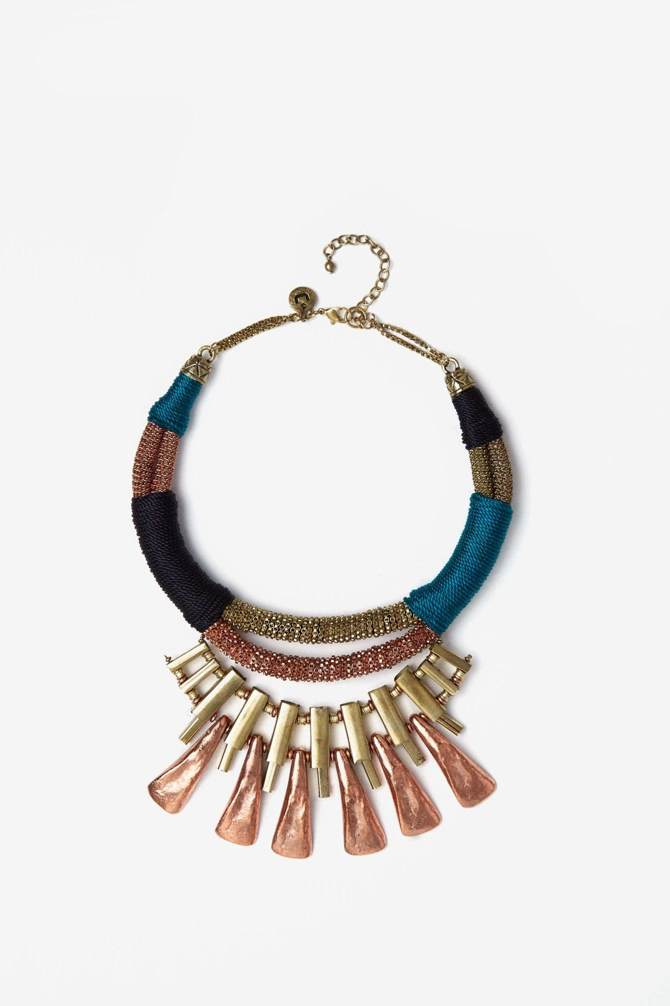 422aa29db5cc Collar metalizado en oro y cobre
