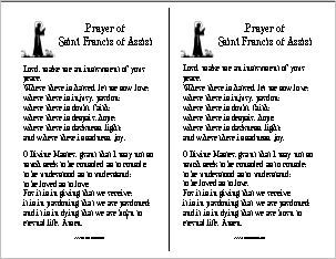 image relating to St Francis Prayer Printable named Pin upon Catholic CCD Youngsters