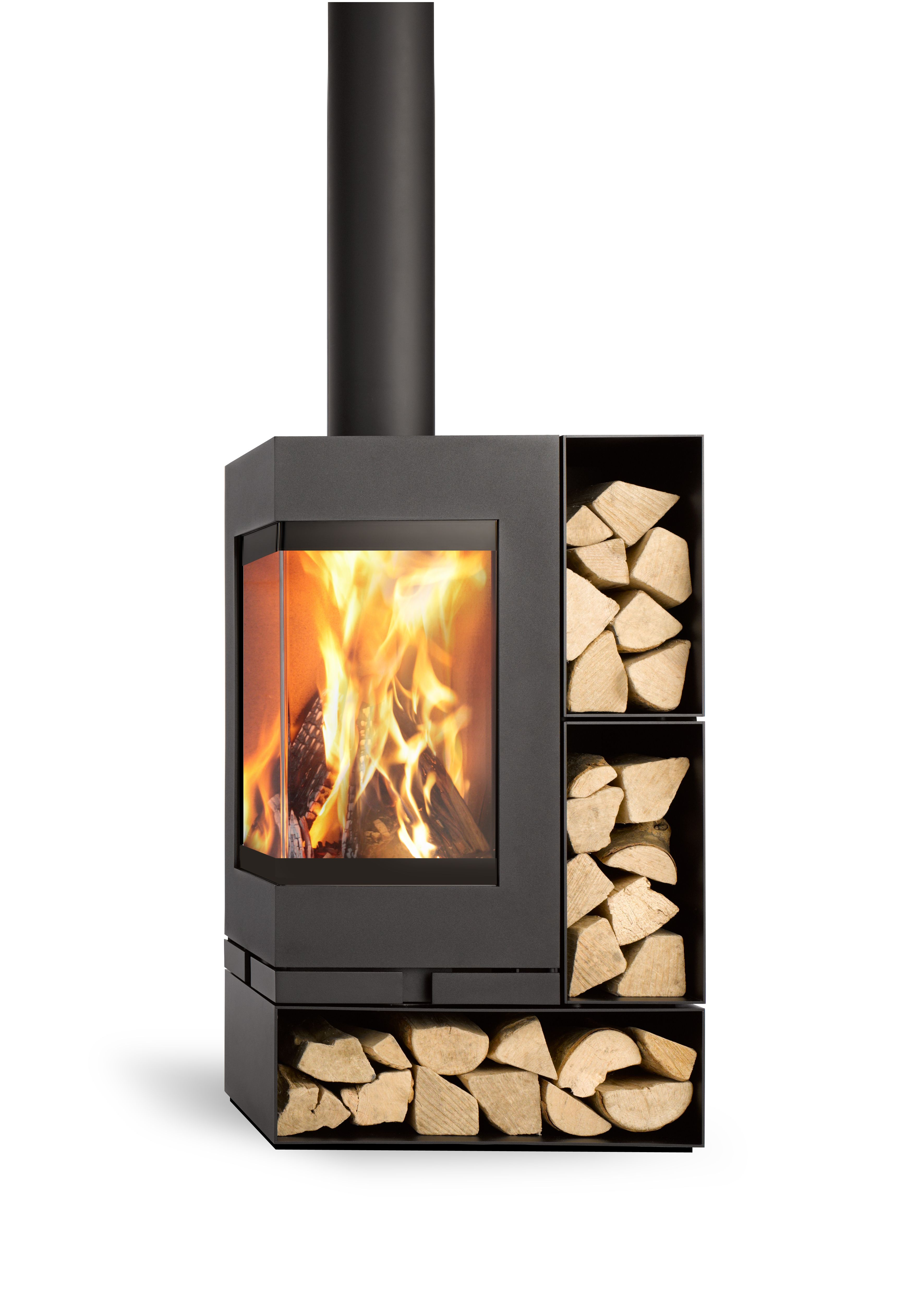 Skatherm Elements freestanding and modular fireplace