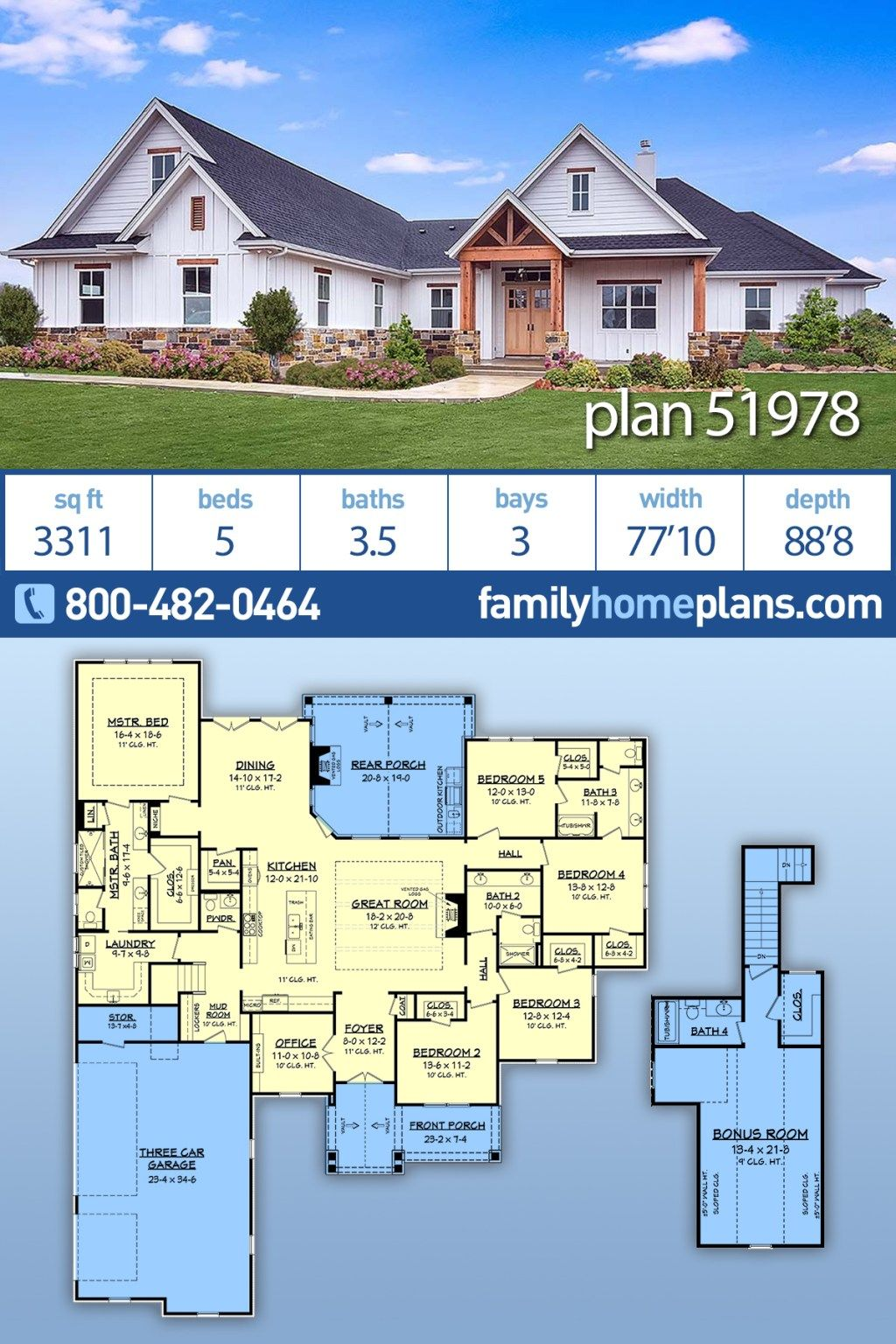 5 Bedroom Modern Craftsman Style Home Plan With Interior Photos Family Home Plans Blog In 2020 Craftsman House Plans Family House Plans House Plans Farmhouse