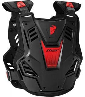 Thor Forza Cintura Renale Nierenprotektor Nero//Bianco//Rosso per Motocross