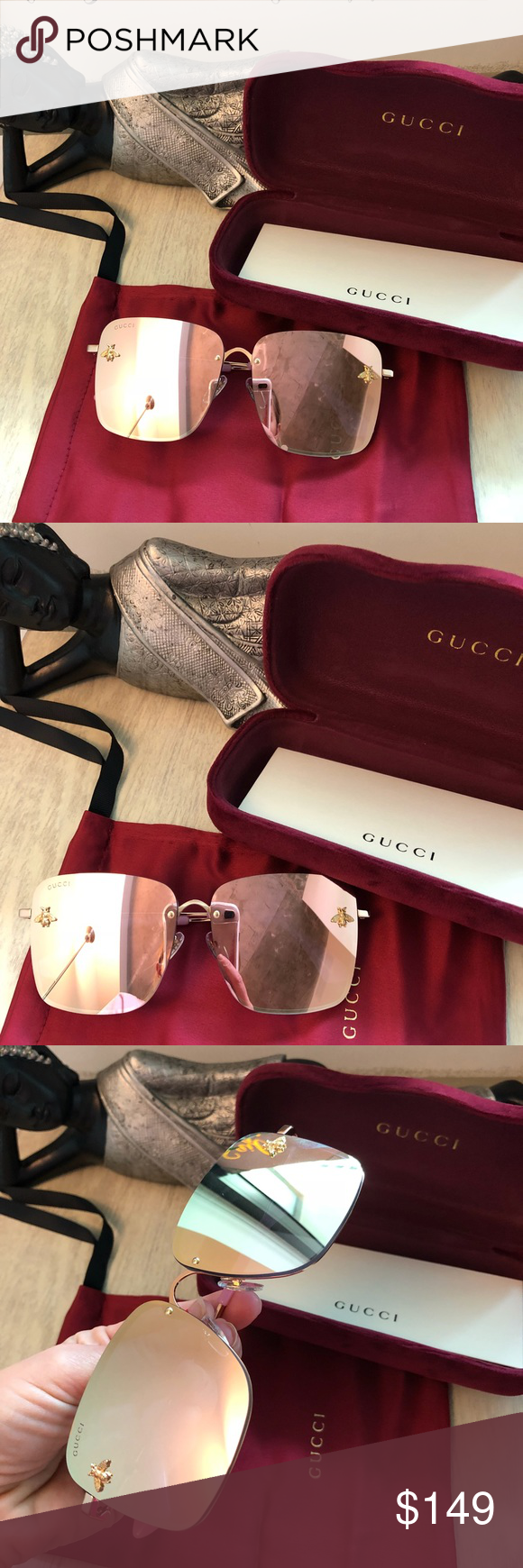 d3e4a079418ce Gucci Sunglasses Gold Bee Collection Used  authentic. Gucci Accessories  Glasses