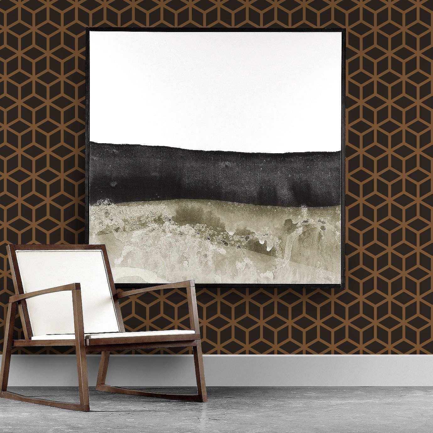 Upgrade Your Walls With This Bold Graphic Wallpaper Method Is Classic Yet Modern And Geometric Our Matte Wal 3d Wall Panels Acoustic Panels Modern Wallpaper