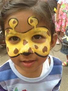 giraffe face paint bing images safari party theme pinterest maquillage enfant. Black Bedroom Furniture Sets. Home Design Ideas