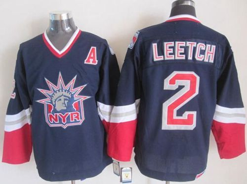 NHL Throwback Jersey New York Rangers leetch blue Jersey