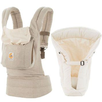 Ergo Baby Original Baby Carrier With Infant Insert Natural Linen Baby Wearing Baby Must Haves Infant