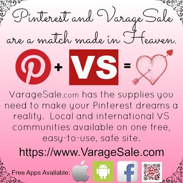 Varagesale Pinning Supplies A Match Made In Heaven Garage Sale App Online Garage Sale Virtual Garage Sale