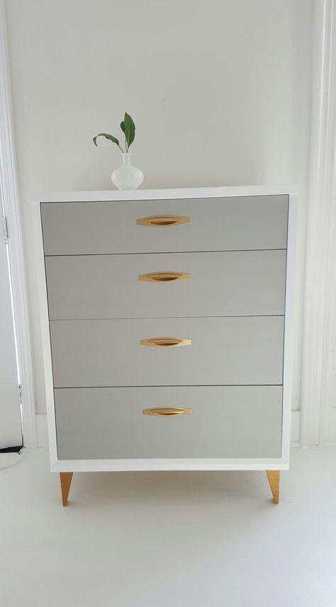 Best Soldlovely Mid Century Dresser Vintage Dresser Painted 400 x 300