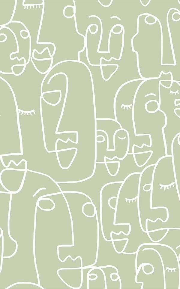 Large Sage Face Wallpaper Mural