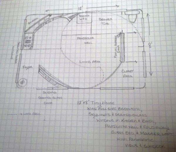 Rae Rickman S 8 12 Tiny House Floor Plan Tiny Houses