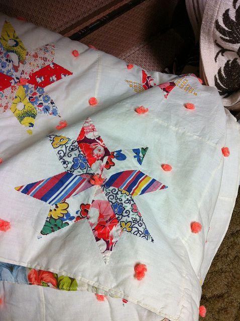 Vintage Star Quilt by Jeni Baker, via Flickr