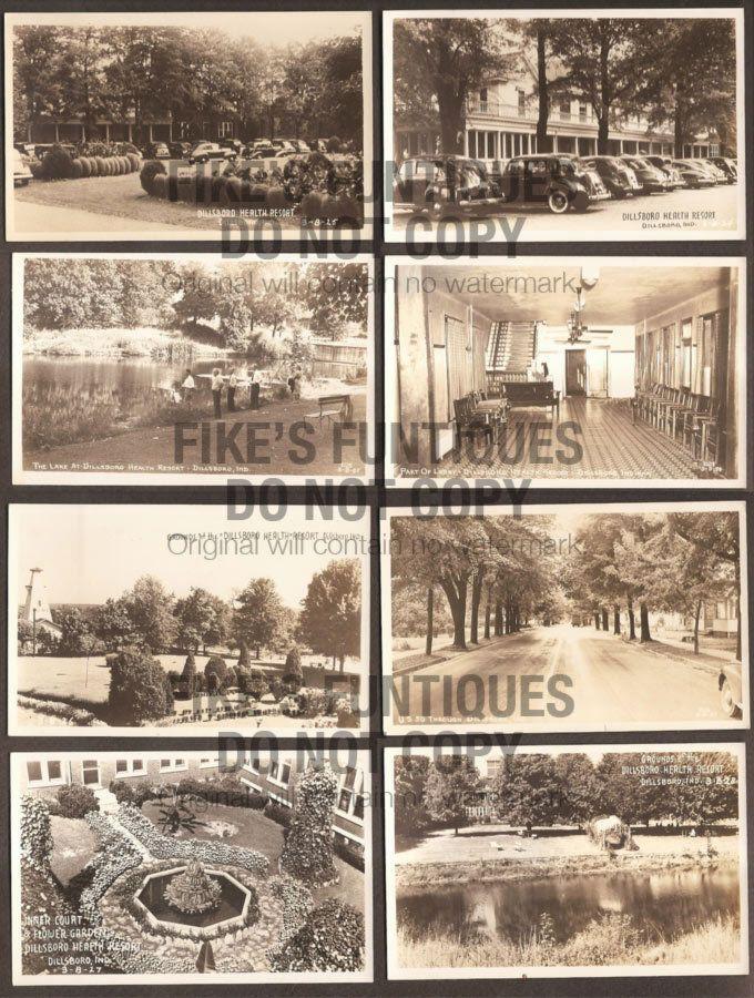 8 Dillsboro Indiana Real Photo Postcards Health Resort Hwy