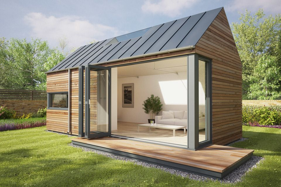 These pop up modular pods can add a garden studio or off for Prefabricated garden rooms
