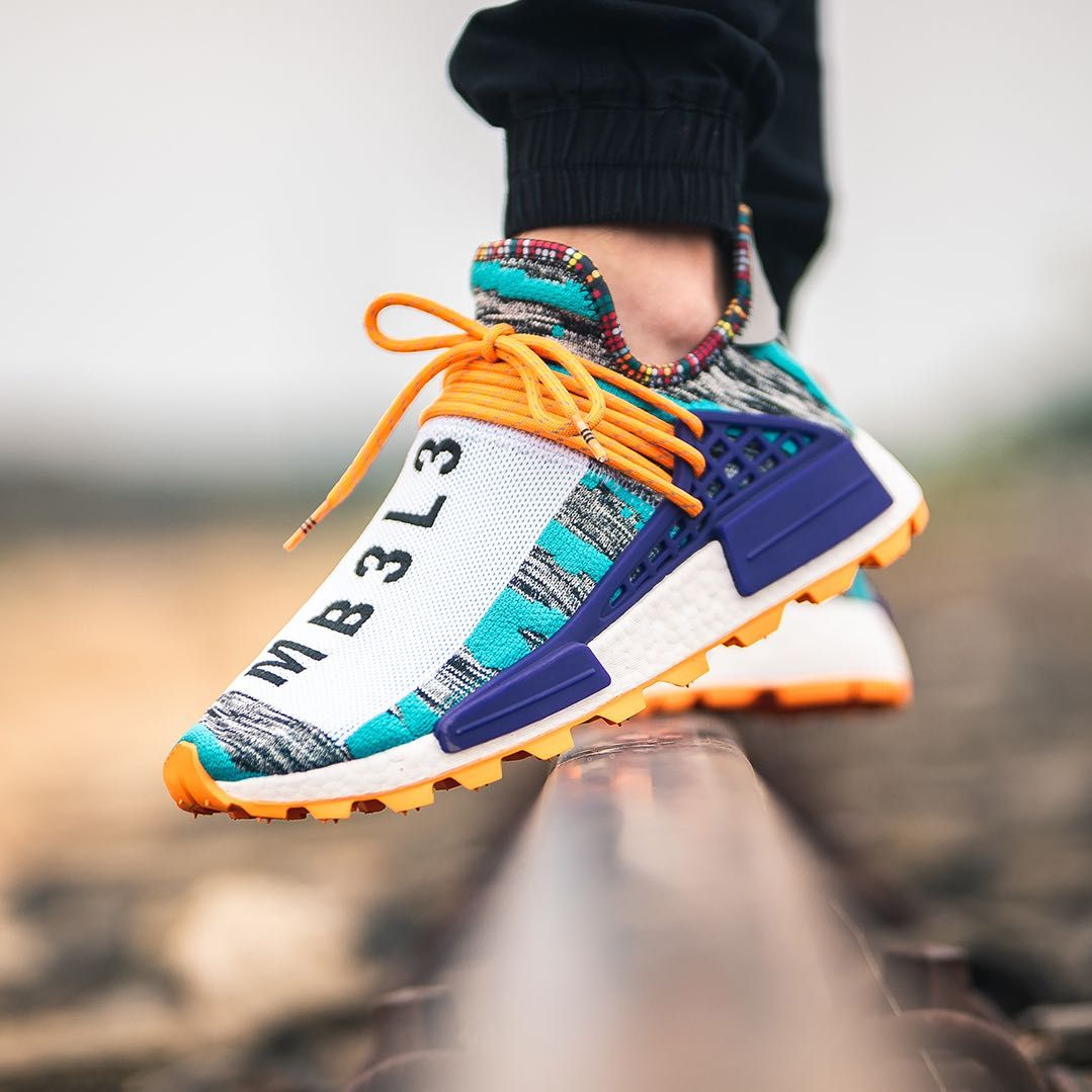 Adidas x Pharrell Williams NMD Afro HU Turquoise Orange