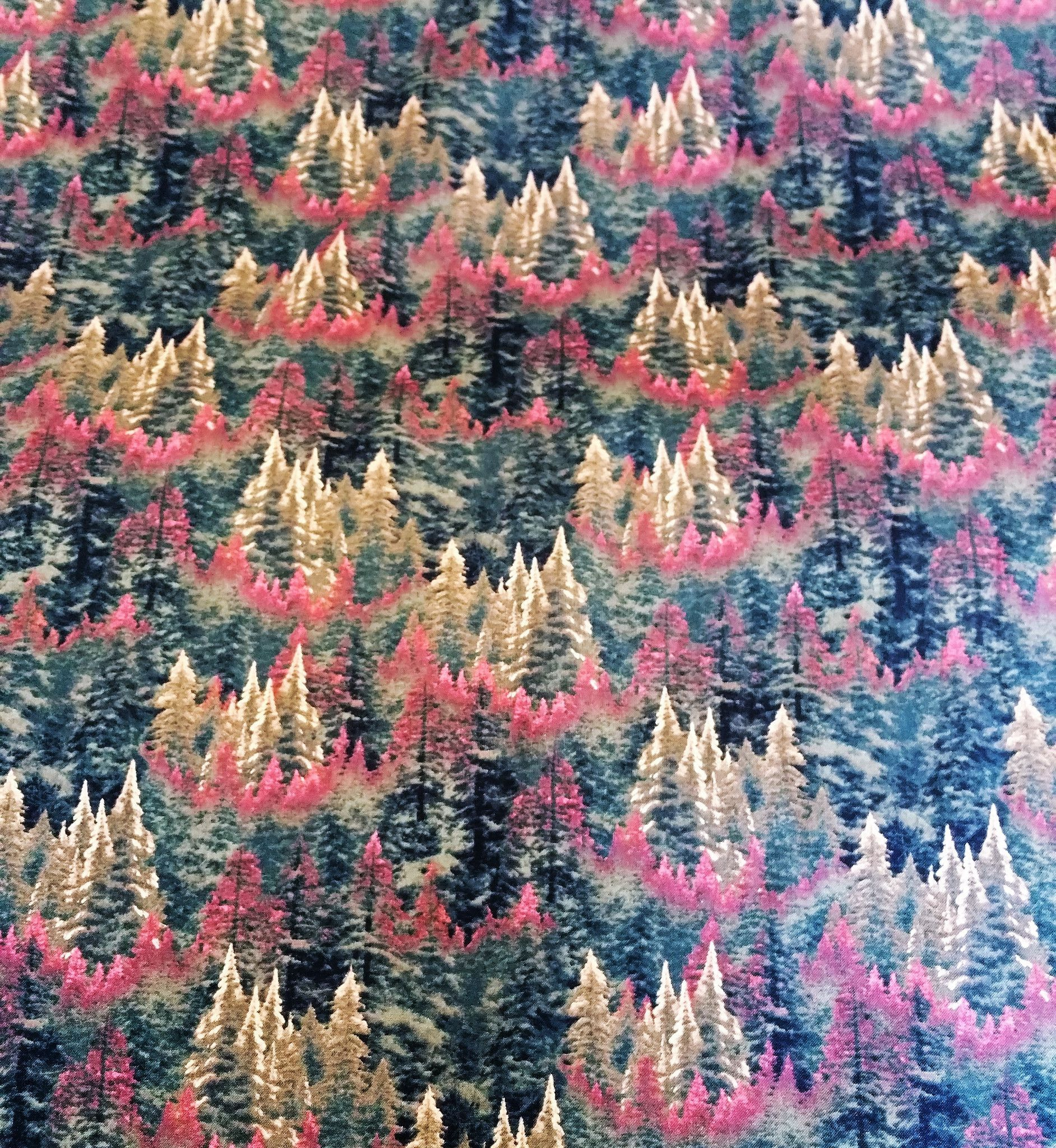 "THOMAS KINKADE ""Autumn Forest"" Fabric by David Textiles, INC."