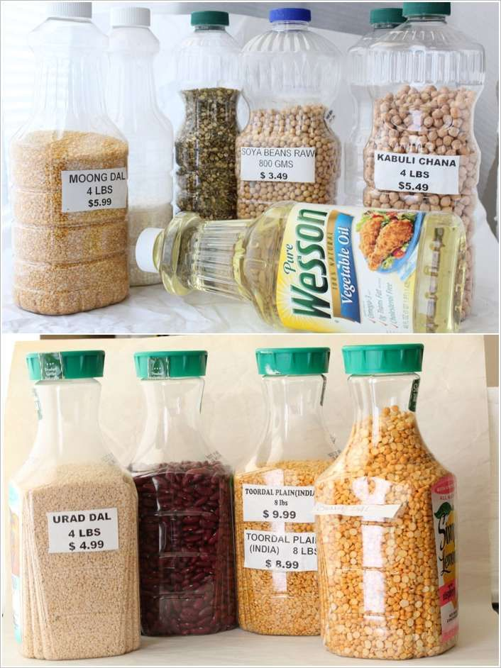 recycle plastic bottles for dry food storage pantry storage organization hacks storage and on kitchen organization recycling id=87804