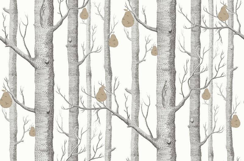Woods And Pears By Cole Son Black White Wallpaper 95