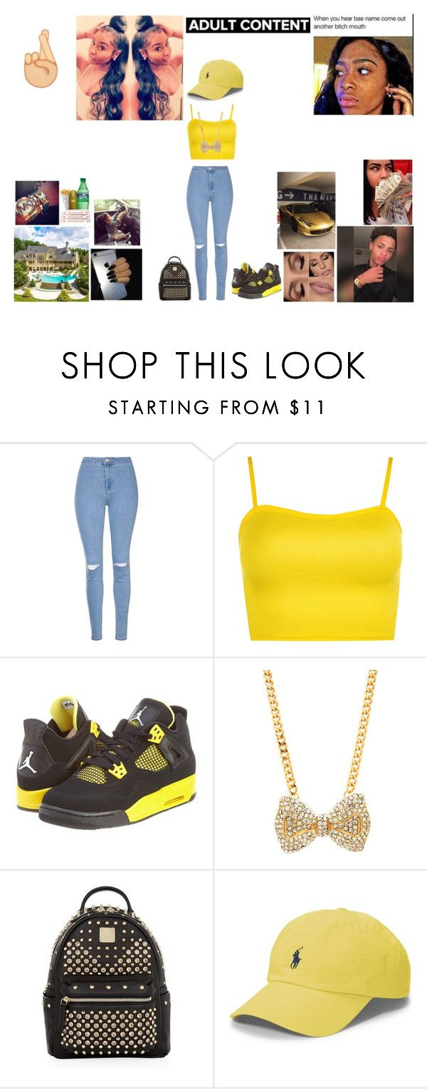"""Nesha~ Savage Party"" by queen-imani ❤ liked on Polyvore featuring Glamorous, WearAll, NIKE, MCM and Polo Ralph Lauren"