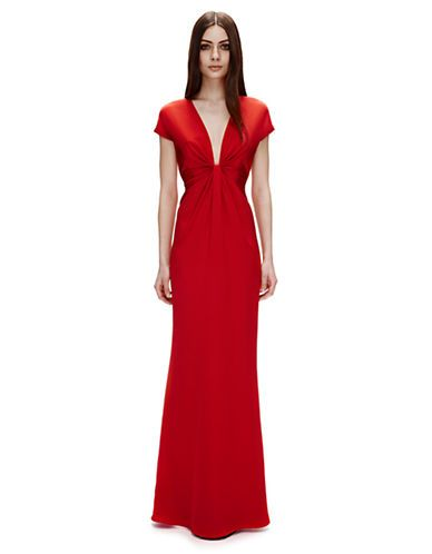 Brands Formalevening Silk Crepe Gown Lord And Taylor Random