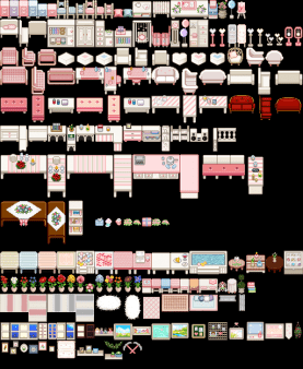 Custom Furniture Yellog S Pink Colored Furniture Unofficial Conversion At Stardew Valley Nexus Mods And C Stardew Valley Mod Furniture Colorful Furniture