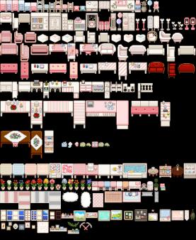 Stardew Furniture : stardew, furniture, Custom, Furniture, Yellog's, Pink-Colored, (Unofficial, Conversion), Stardew, Valley, Nexus, Valley,, Furniture,, Colorful