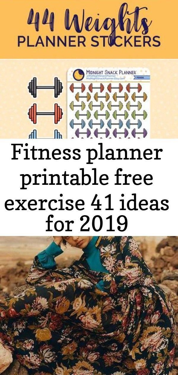Fitness Planner Printable Free Exercise 41 Ideas For 2019 #fitness Fitness motivacin pictures photog...