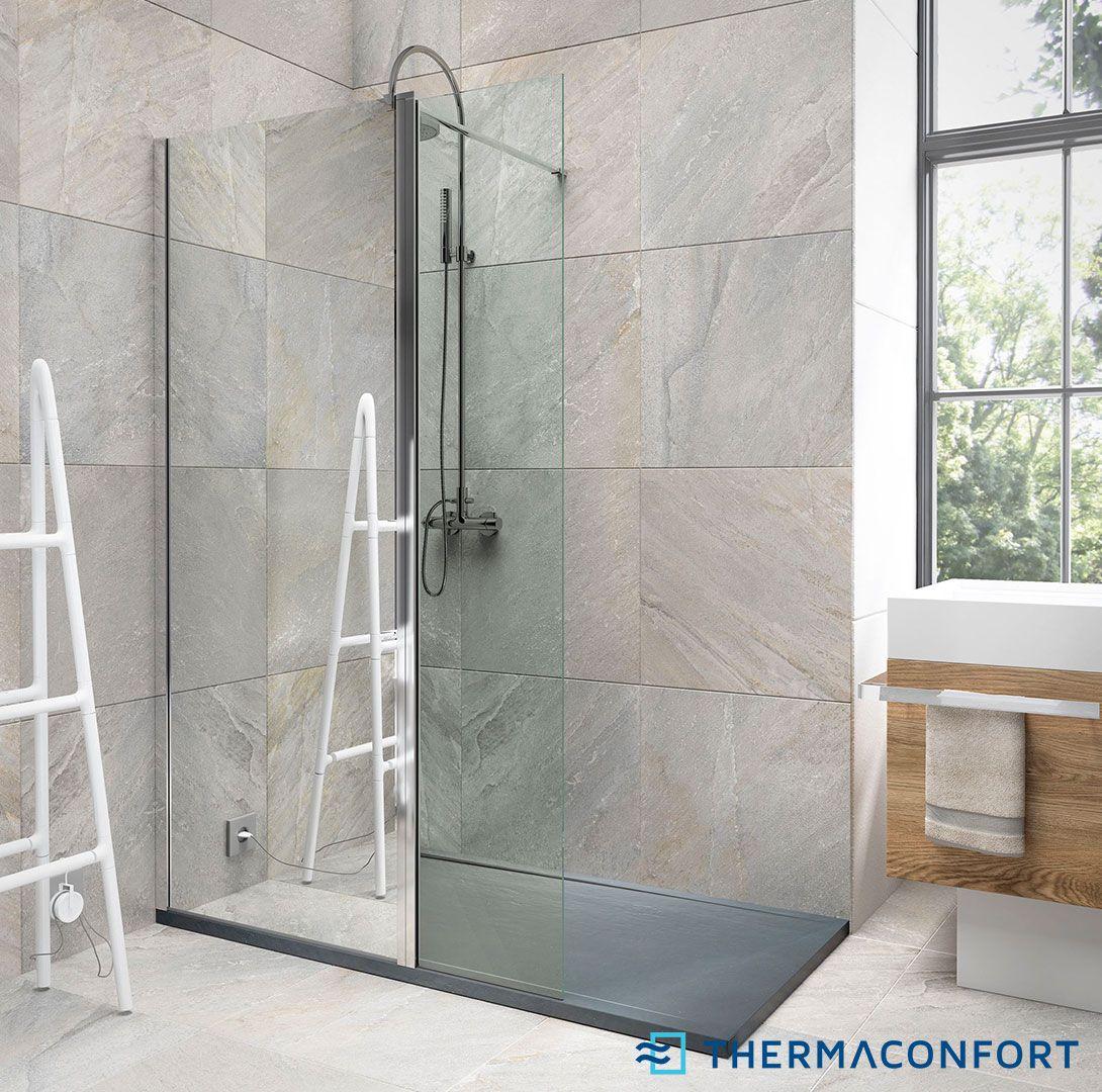 Mamparas ducha fijas magna 1 fijo 1 abatible mampara Modelos de duchas modernas