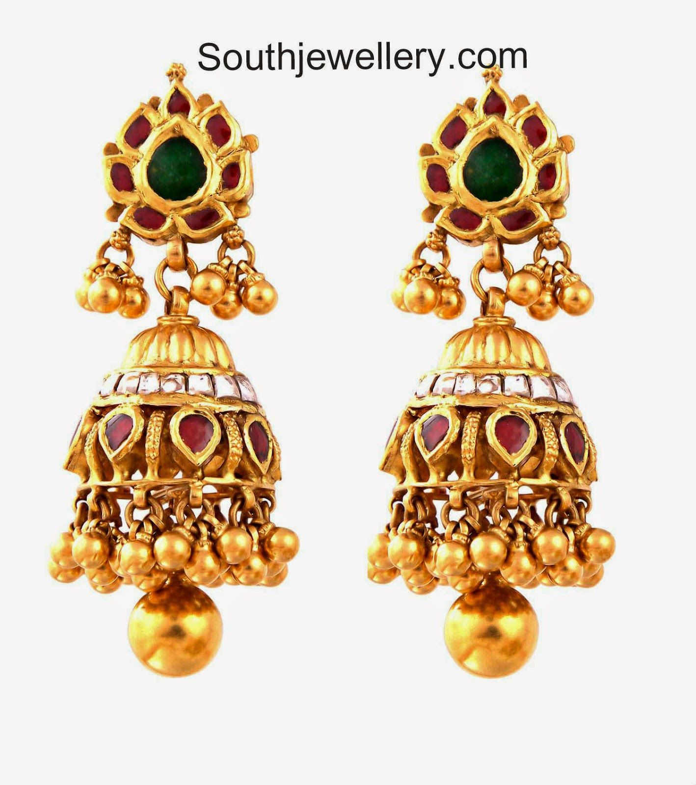 gold jhumkas | Jewellery-earrings | Pinterest | Gold, Indian ...