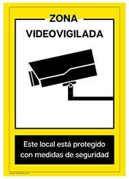 Cartel para imprimir zona videovigilada videovigilancia for Cartel oficina