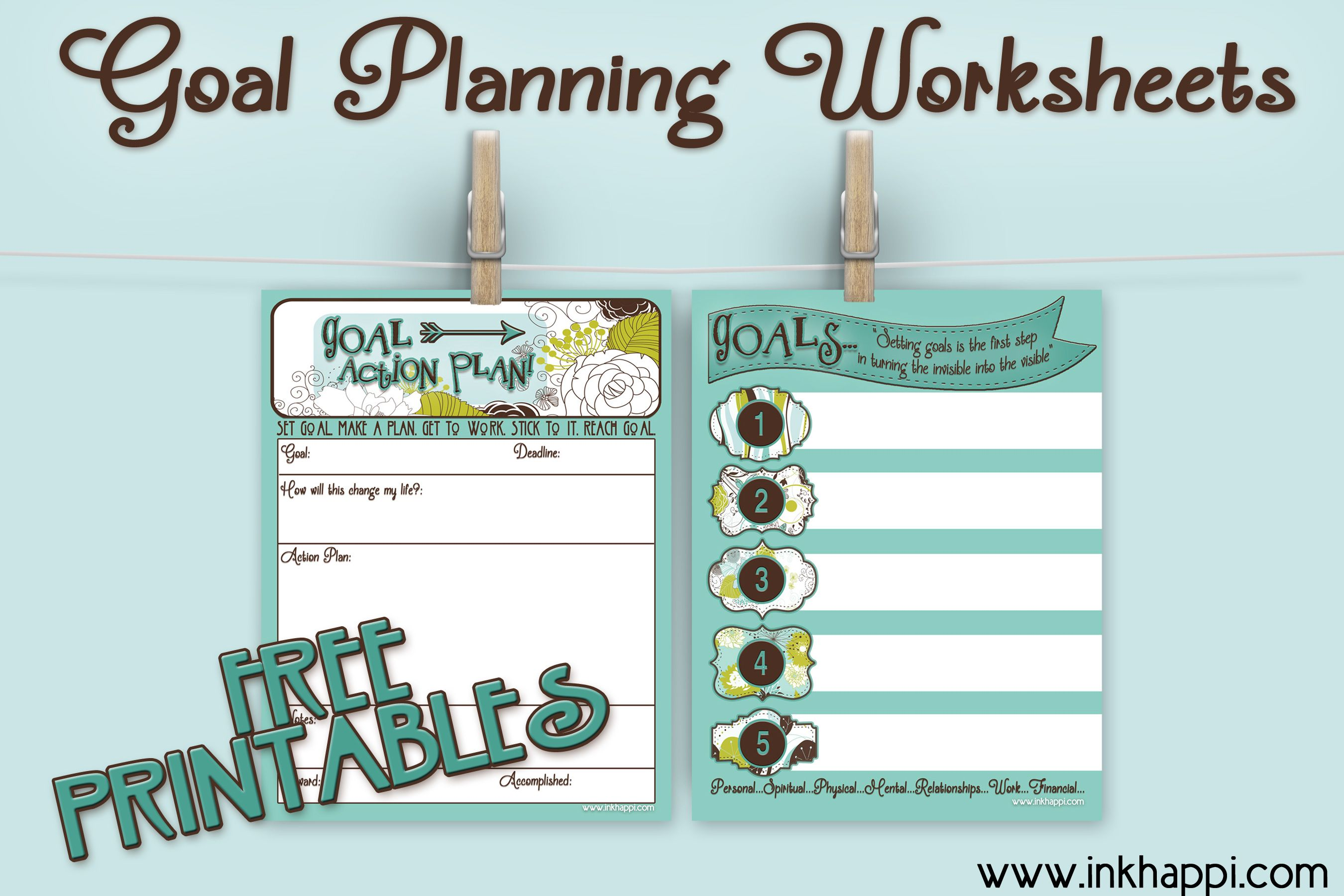 Goal Planning Worksheets With Free Printables