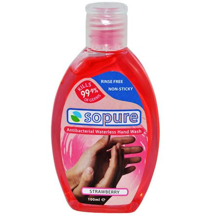 Huge Discount Sopure Antibacterial Hand Sanitiser Strawberry