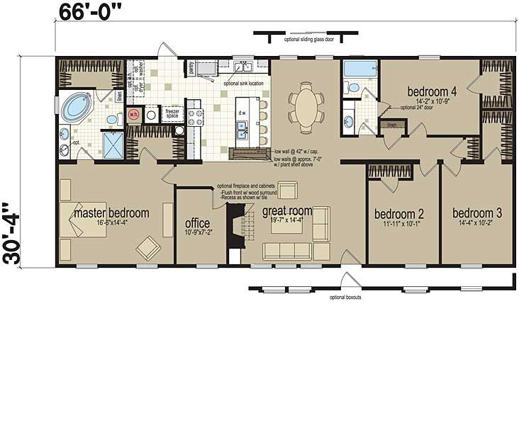 Floor Plans The Flamingo 0603b1 Manufactured And