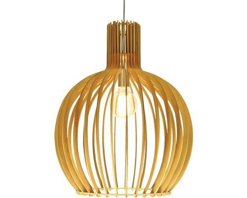 hanglamp legno bol hout 1 lichts à 45 cm e27 60 watt uitbouw