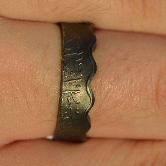 Coin Ring/ Münzring 10 Fils(Iraq/Irak) size(US) 10 / Größe(DE) 20 ;Size/Größe(mm/inches): 62/ 2 9/16 #uniqueitemsproducts