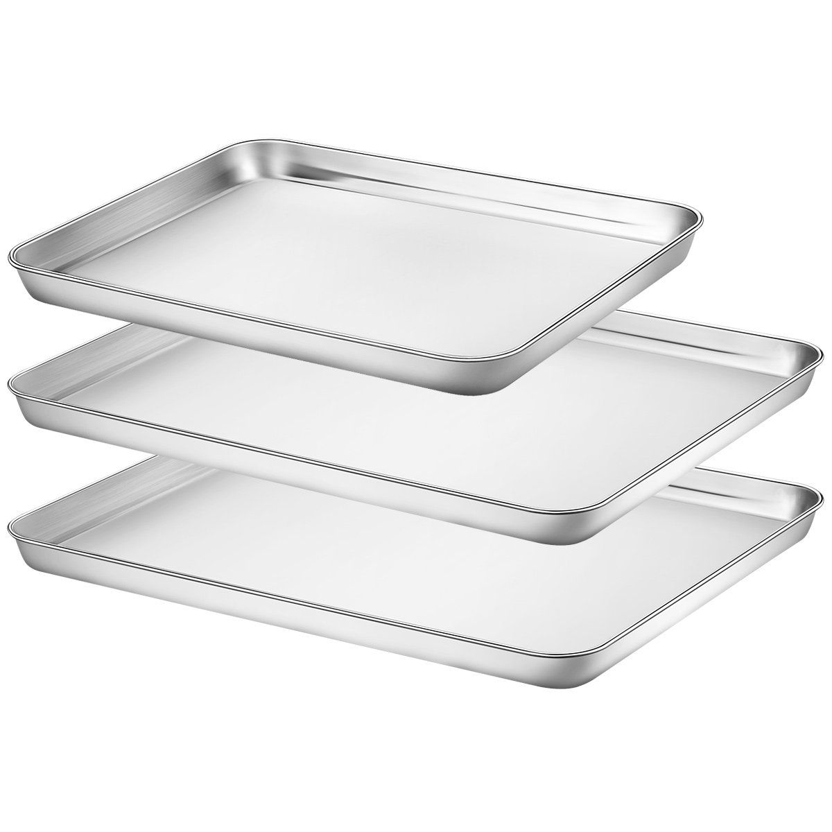 Baking Sheets Set Of 3 Hkj Chef Baking Pans 3 Pieces And
