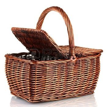 Picnic Basket - with a cover/lid - interesting with a lid in terms of animation (123RF, 2016)