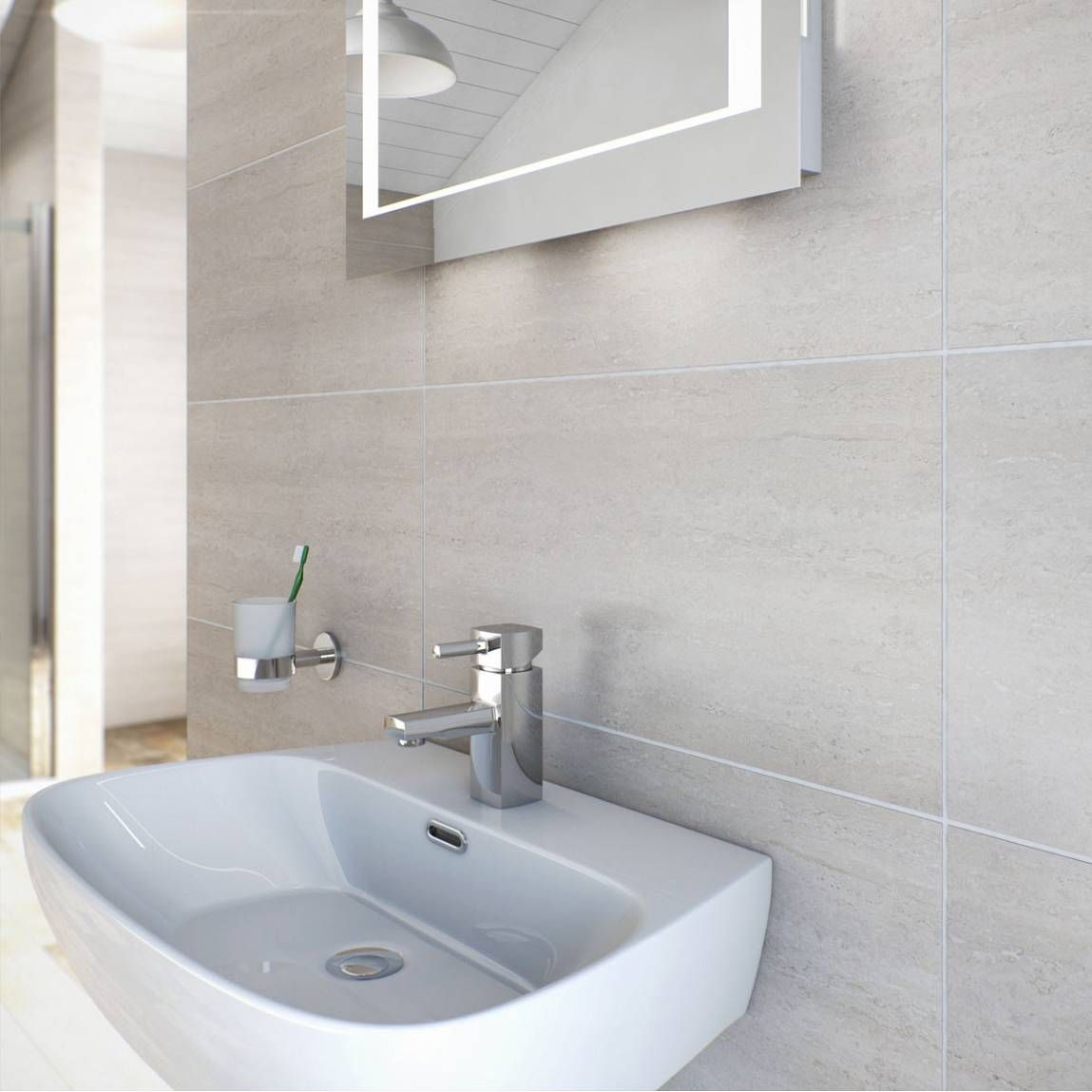 Natalia bone glazed porcelain floor & wall tile 30cm x 60cm | Wall ...