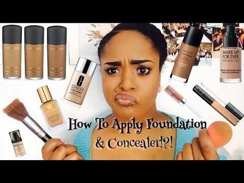 ❤️How To Apply Foundation & Concealer!?! ❤️Step by step for ...