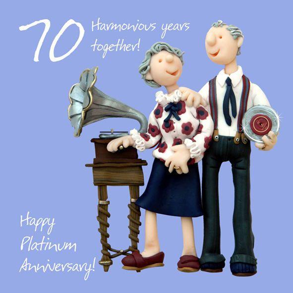 Holy Mackerel Anniversary Greeting Card