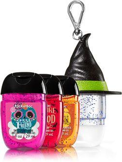 Halloween Treats 3 Pack Pocketbac Holder Soap Sanitizer Bath