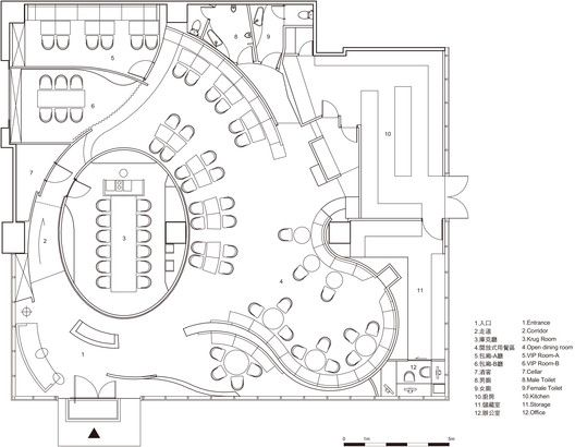 Dn Innovacion Visual Taste Very Space International Restaurant Plan Hotel Lobby Design Restaurant Floor Plan