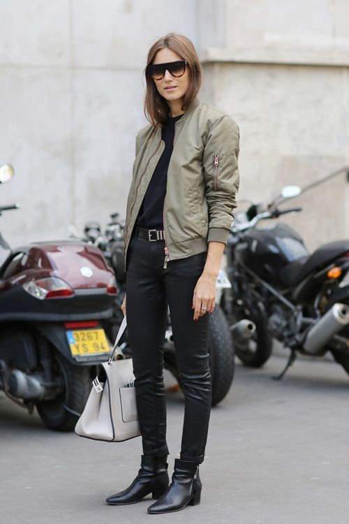 40 Stylish Outfit Ideas with Bomber Jacket in 2019 Min  My