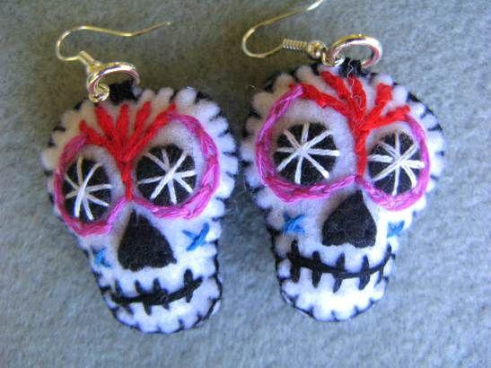 DIY Day of the Dead Earrings