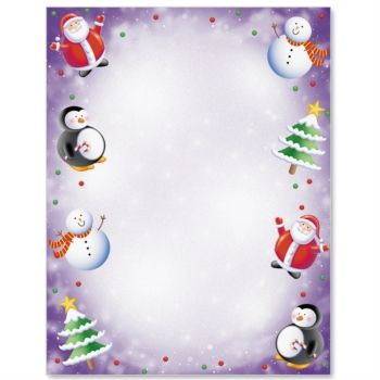 Wonderland Letter Paper  Christmas Party And Holiday Party