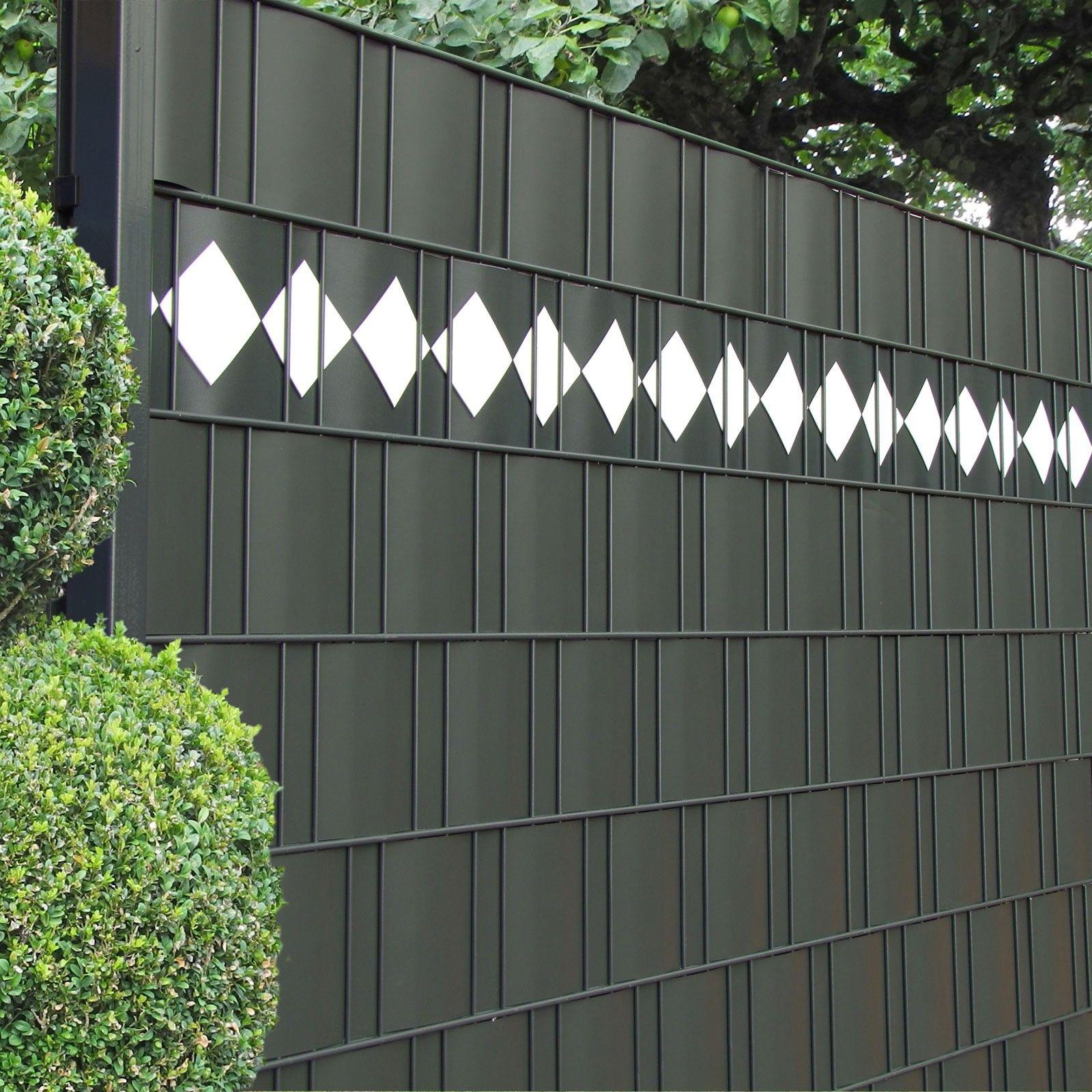 Außergewöhnlich Zaun Design Referenz Von Streifen Motiv Karo Im Scihtschutzzaun
