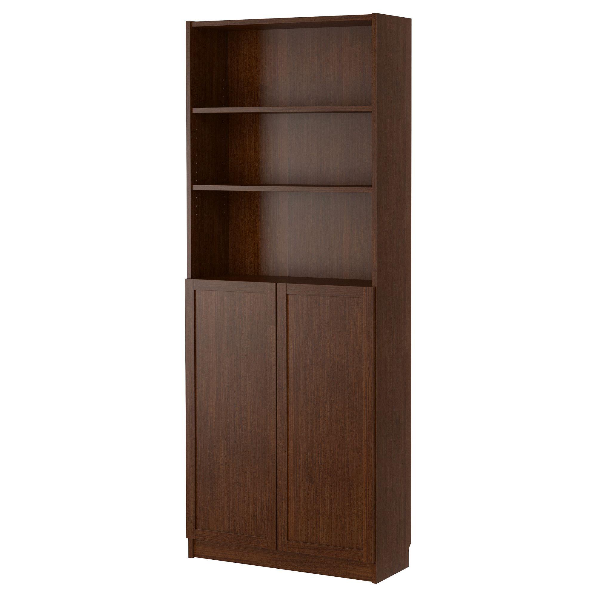 billy bookcase with doors - medium brown - ikea | articles pour la, Gestaltungsideen