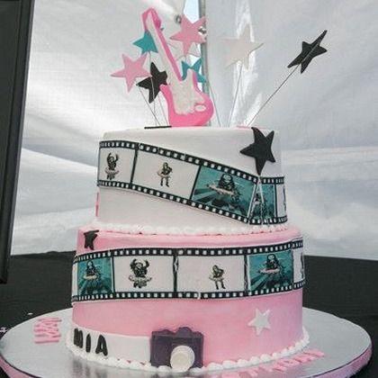 Rock Star Theme Rock Star Music Video Cake Sugar Spice