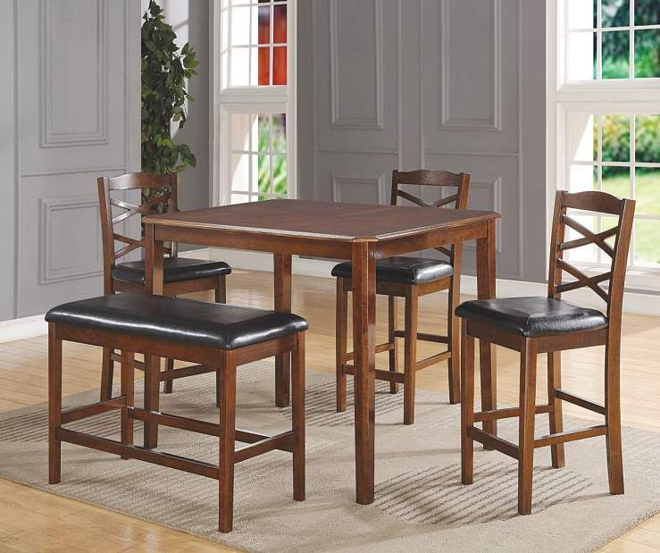 5 Piece Wooden Pub Set With Bench At Big Lots House Pinterest