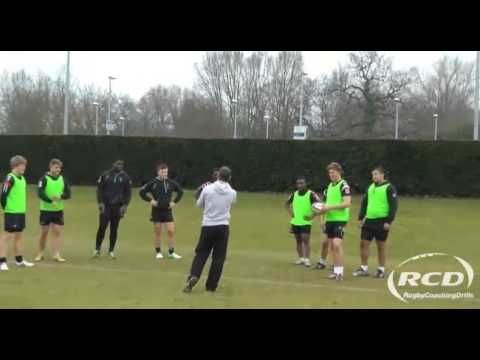 Pull Back Pass Drill Harlequins Academy Youtube Rugby Training Rugby Drill